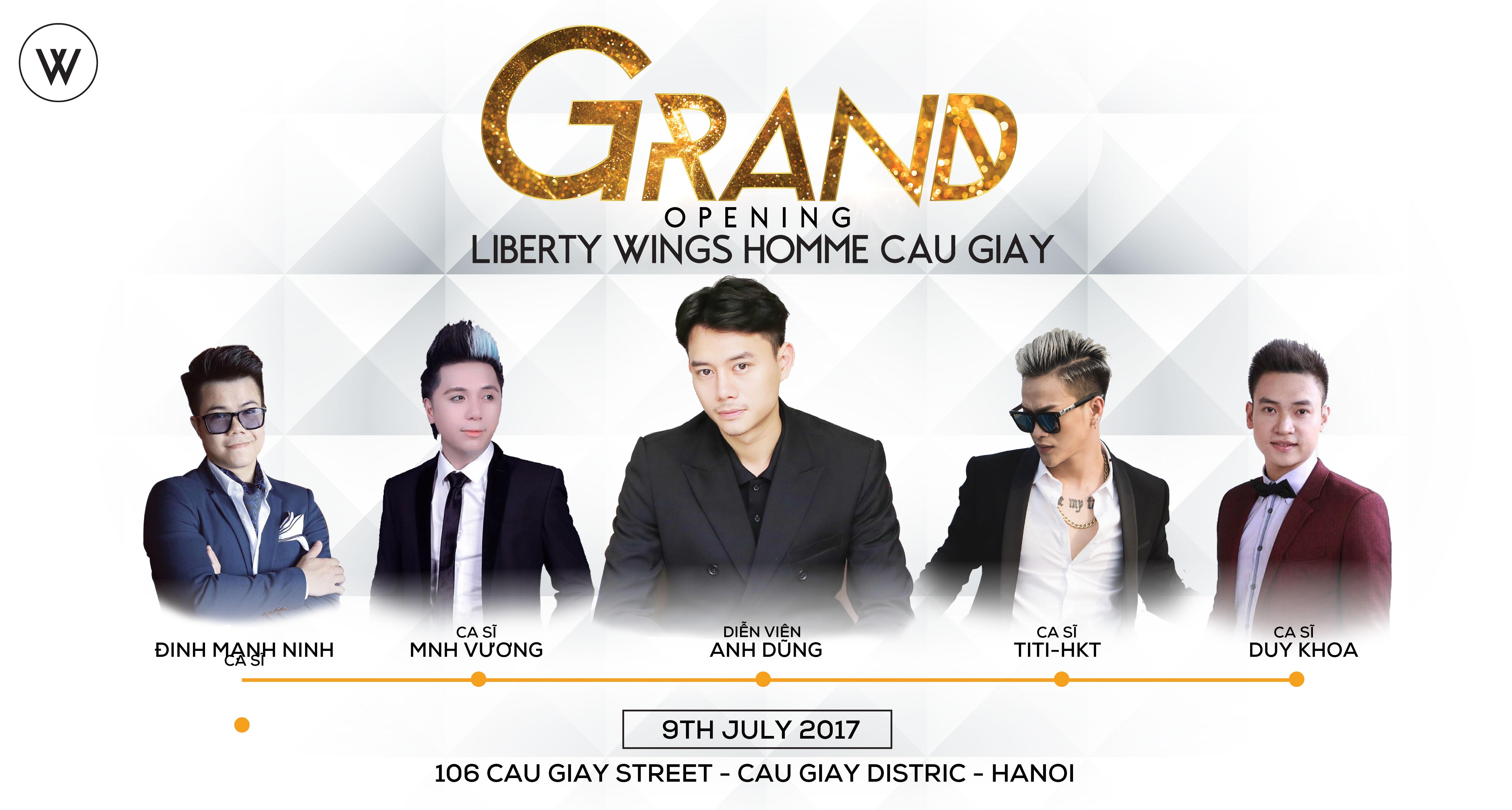 Khai trương showroom Liberty Wings Homme 106 Cầu Giấy Hà Nội
